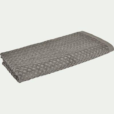 Drap de douche motif bouclette en coton - gris restanque 70x140cm-ETEL