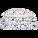 Parure de lit en percale de coton motifs œillets - 260x240 + 63x63 cm-FATINA