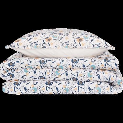 Housse de couette en percale de coton à motifs  260x240cm et 2 taies d'oreillers-FATINA