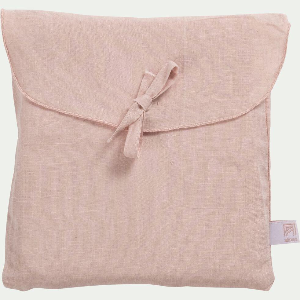 Taie de traversin en lin - rose rosa 45x190cm-VENCE
