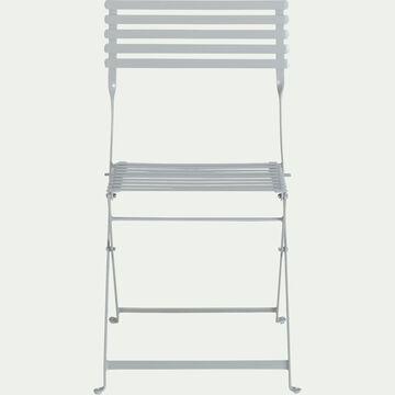 Chaise de jardin pliante en acier - gris-CERVIONE