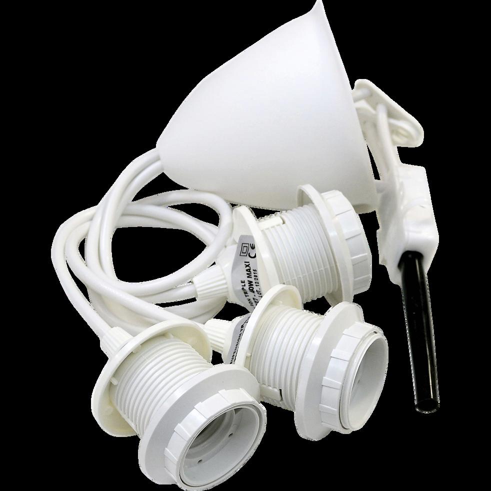 Monture électrique E27 triple pour suspension L60cm-CORDON X 3