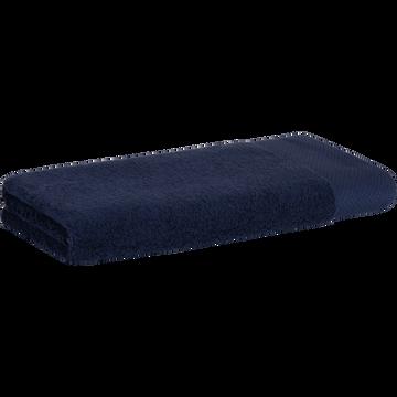 Serviette en coton 50x100cm bleu myrte-AZUR