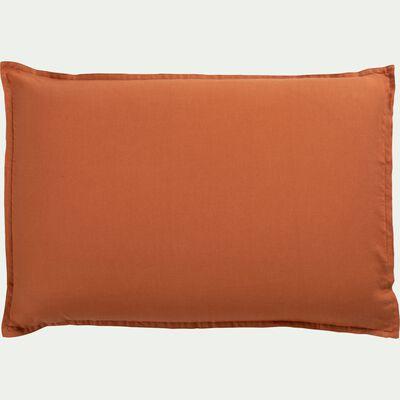 Lot de 2 taies d'oreiller en lin - brun rustrel 50x70cm-VENCE