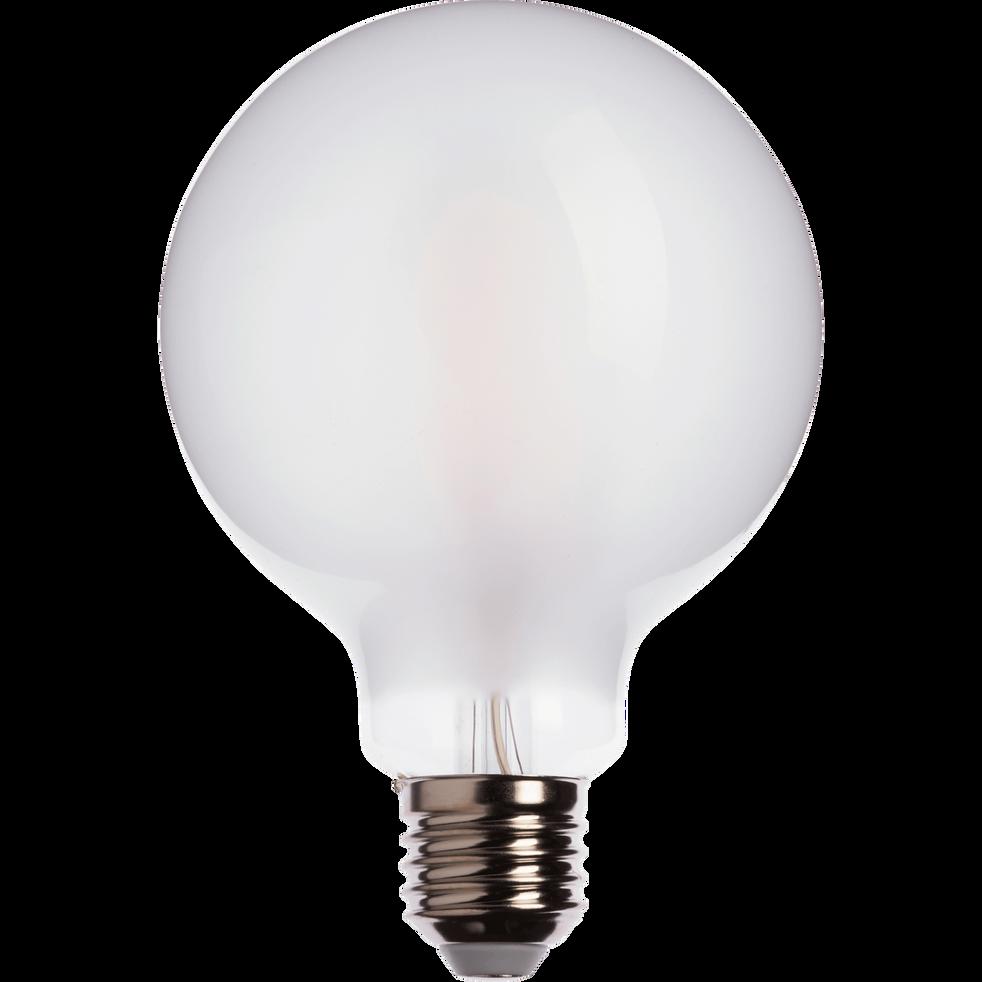 Ampoule LED verre dépoli D9,5cm culot E27-GLOBE