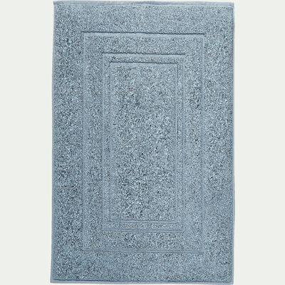 Tapis de bain en coton - bleu calaluna 50x80cm-AZUR