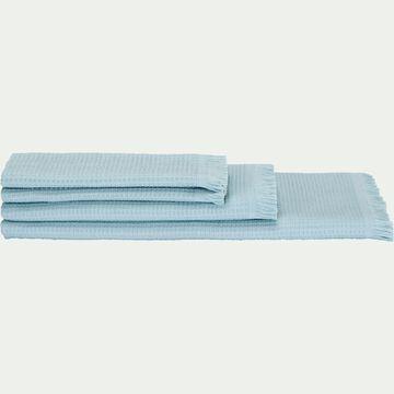 Linge de toilette en coton -bleu-RICIN