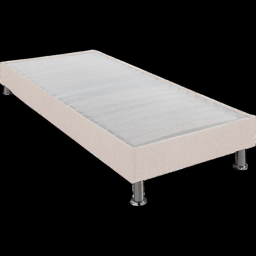 Sommier tapissier Alinéa 15 cm Lin - 90x200 cm-DECOCONFORT