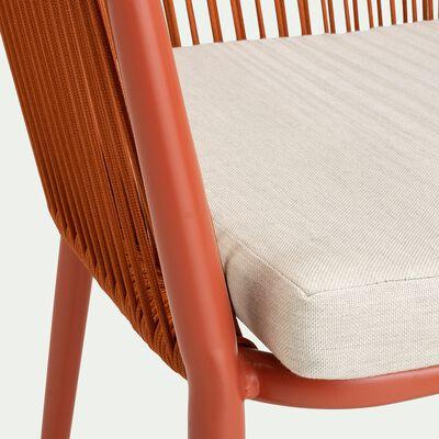 Chaise de jardin avec accoudoirs en aluminium et corde - marron rustrel-ANTALIA