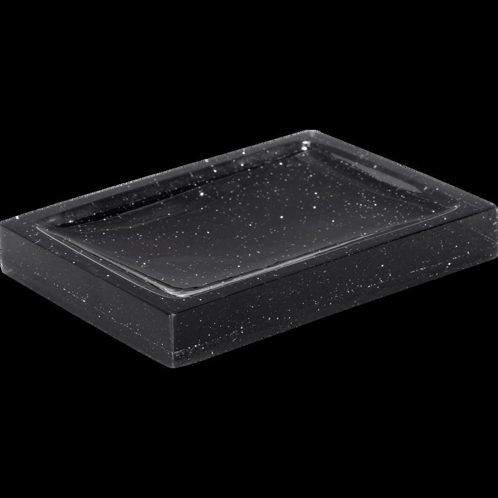 Porte-savon noir pailleté-Paillette