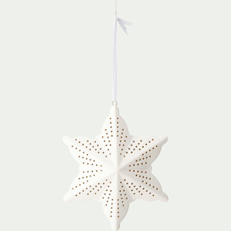 Suspension étoile - l11,5XH10,4cm blanc-PARAS
