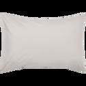 Lot de 2 taies d'oreiller en coton Beige roucas 50x70cm-CALANQUES