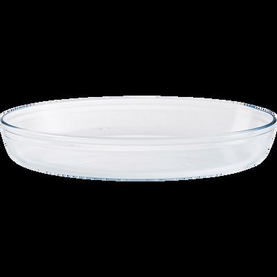 Plat ovale en verre borosilicate 39x27cm-AZET