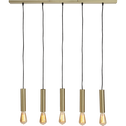 Suspension à 5 lumières en acier doré L95,5cm-ESTEBAN