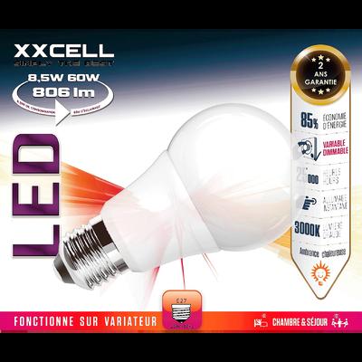 Ampoule LED D6cm blanc chaud culot E27-STANDARD