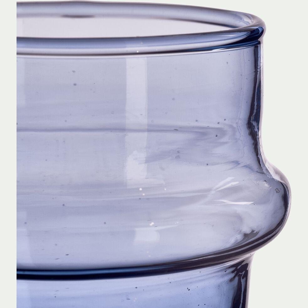 Verre bleu en verre recyclé soufflé à la bouche 11cl-BELDI