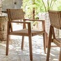 Chaise de jardin avec accoudoirs en acacia - naturel-CHICOULA