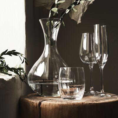 Service de coffrets de verres striés en cristallin