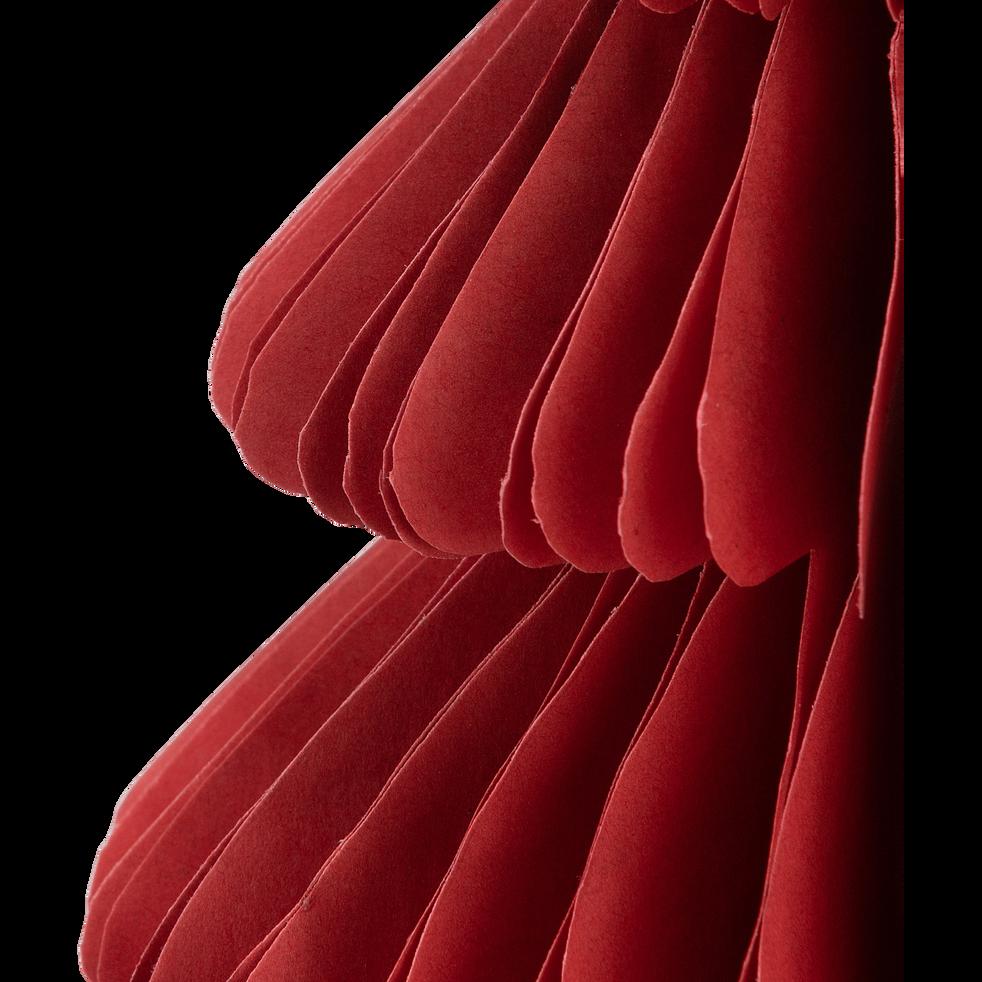 Sapin à poser en papier rouge H24cm-TROPHIME