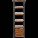 Colonne de salle de bains en acacia et métal 185cm-Kota