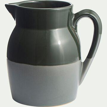 Carafe d'eau en grès 1L - vert cèdre-MARCEAU