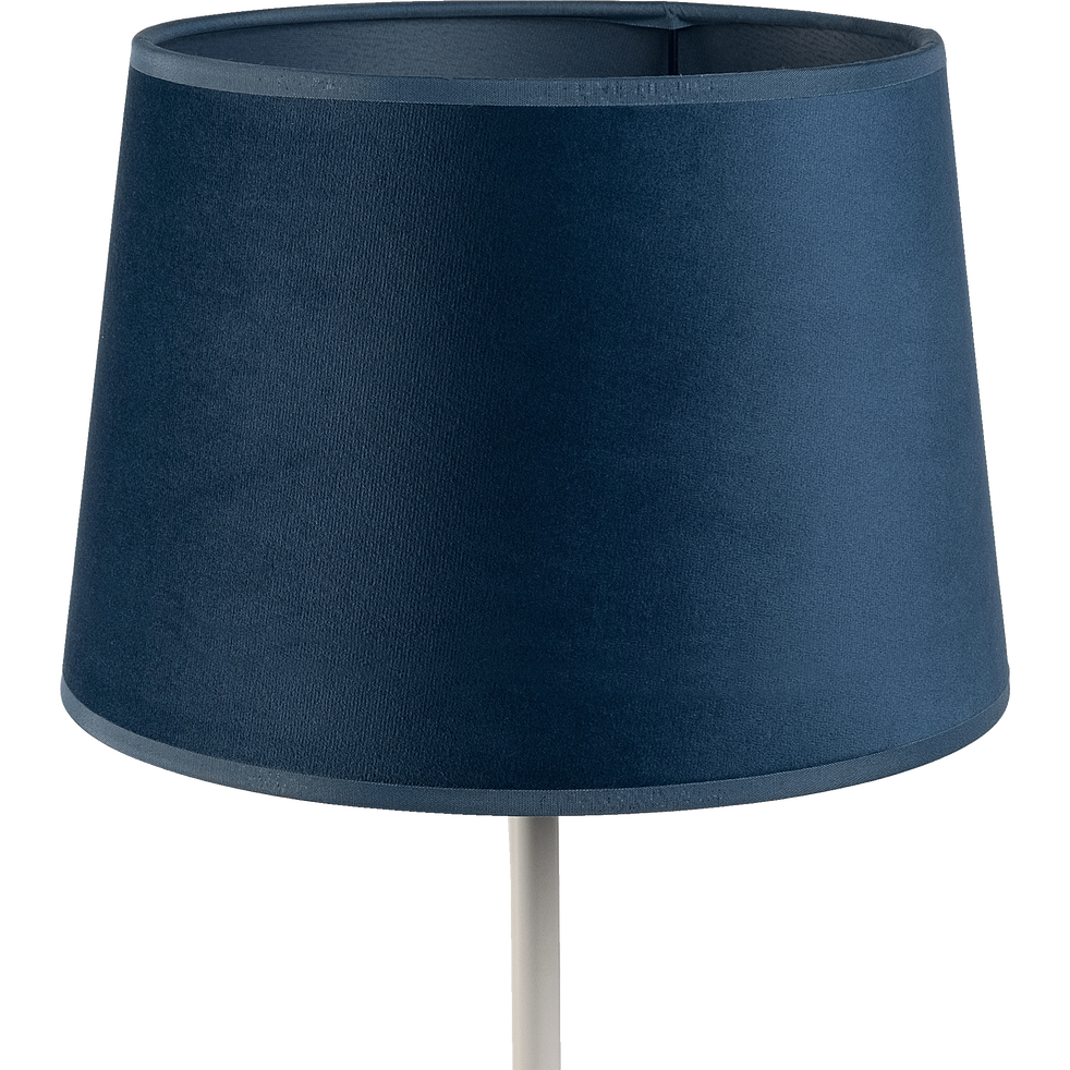 Abat-jour en velours bleu D23cm-VELOURS