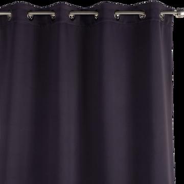 Rideau occultant à oeillets gris calabrun 140x250cm-GORDES