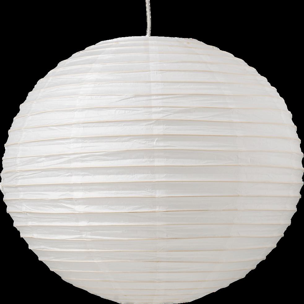 Boule japonaise en papier blanc D60cm-Izu