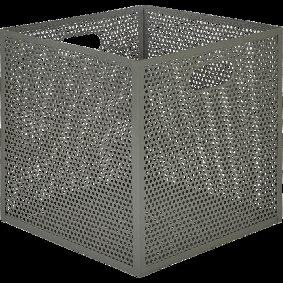 Caisse de rangement en métal vert L31xl31xH30cm-PIA
