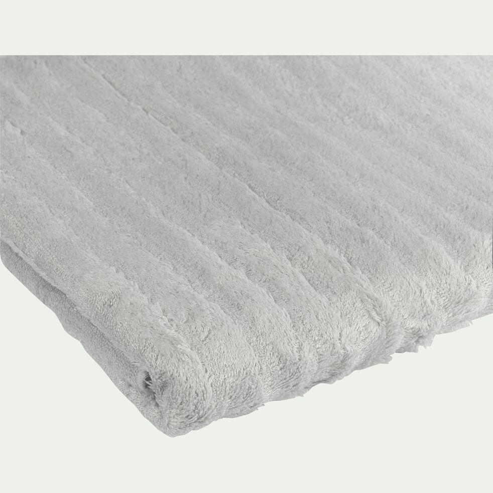 Drap de bain longues mèches en viscose et coton - gris borie 100x150cm-AUBIN