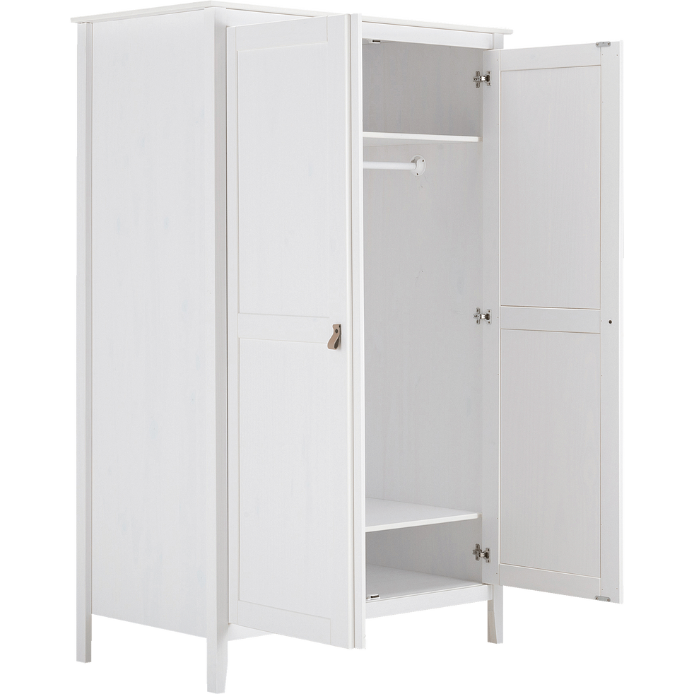 Armoire 2 portes pin massif-LISON