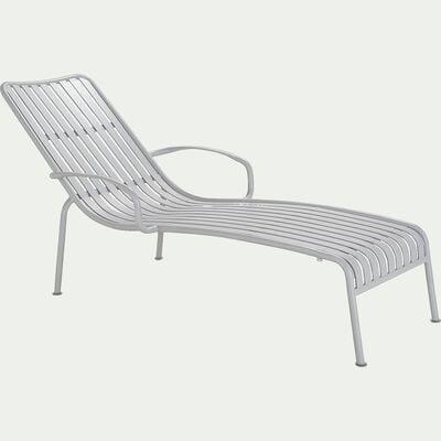 Bain de soleil en aluminium - gris borie-Doume