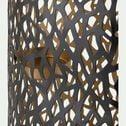 Photophore en métal - brun H60cm-KABUTO