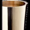 Bougeoir doré H20cm-CETI