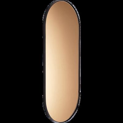 Miroir en métal noir et reflet ambré 30x60cm-ARSENE
