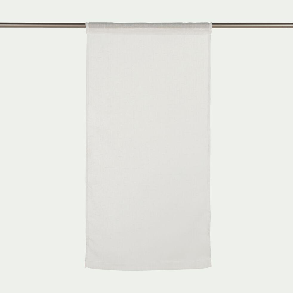 Vitrage à passant en polyester - blanc ventoux 45x90cm-DUNE