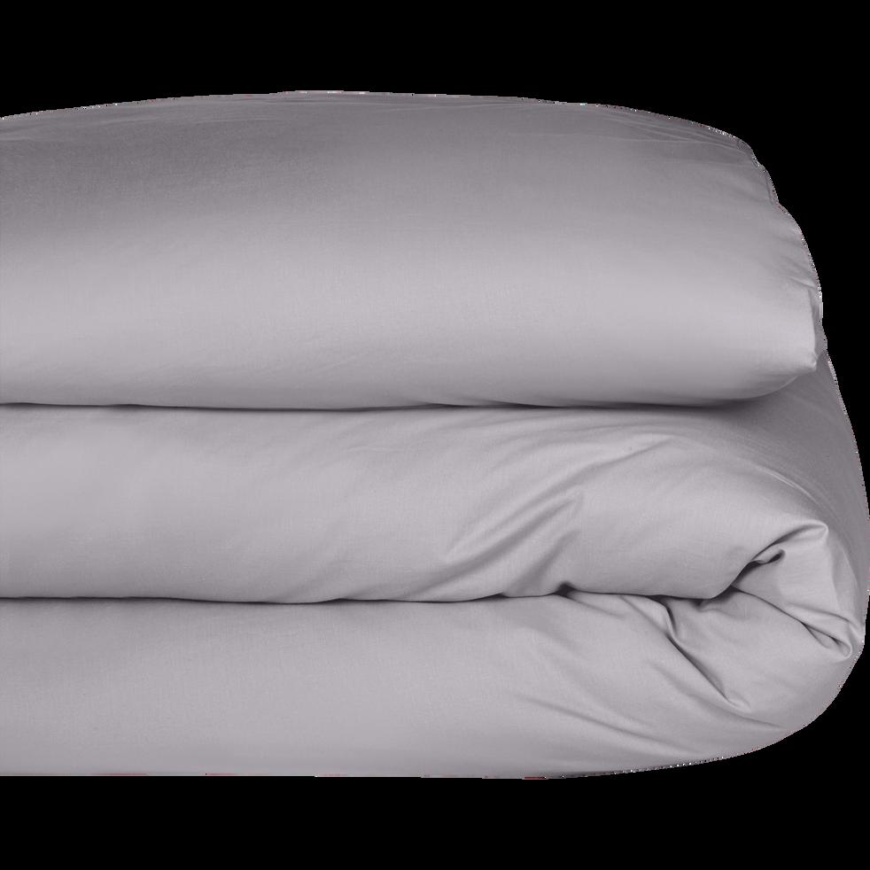 Housse de couette en coton gris restanque 260x240cm-CALANQUES