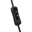Applique orientable en métal noir 27cm-HERON