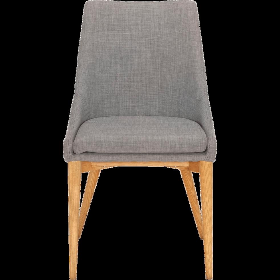 Chaise en tissu gris clair-ABBY