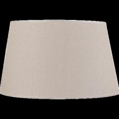 Abat-jour en lin taupe D45cm-Mokuzai