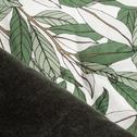Édredon en velours motif laurier vert cèdre 100x180cm-LAURIER