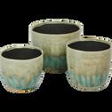 Cache-pot en céramique dégradé D13xH14 cm-Catane