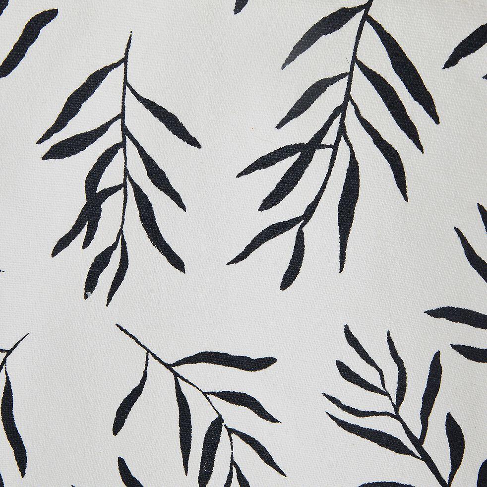 Sac en coton motif Aloyse - noir et blanc 33x60cm-ALOYSE