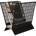 Porte-revue en métal noir 35x35x20cm-ALBE