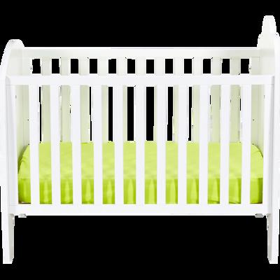 Lit bébé à barreaux blanc - 60x120 cm-Nuage