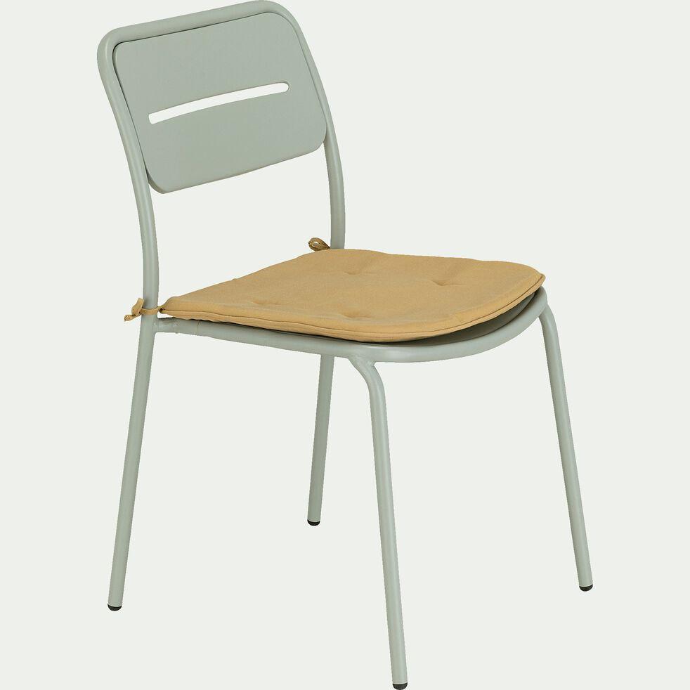 Chaise de jardin en acier - vert olivier-Inacio