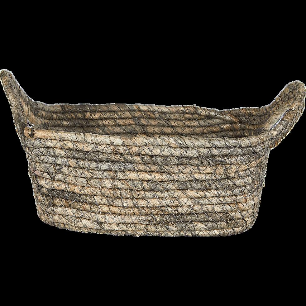 Panier en feuilles de maïs L22xl16xH9cm-Oriane