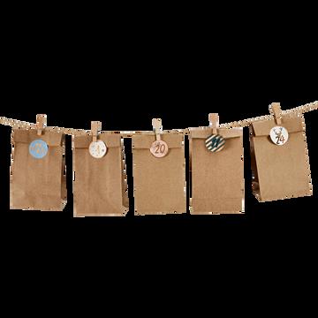 Guirlande calendrier de l'Avent en papier-LANGY