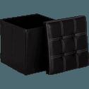 Pouf coffre coloris noir pliable-Oliver