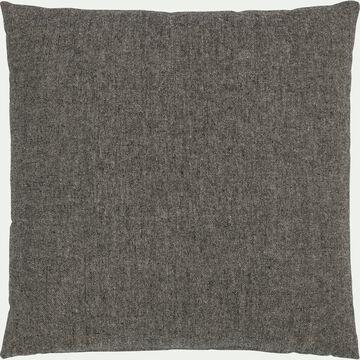 Coussin chambray en polyester - gris 45x45cm-CORBIN